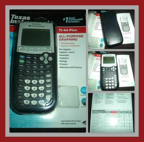 NEW! TEXAS INSTRUMENTS T1-84 PLUS ALL PURPOSE GRAPHING CALCULATOR BLACK