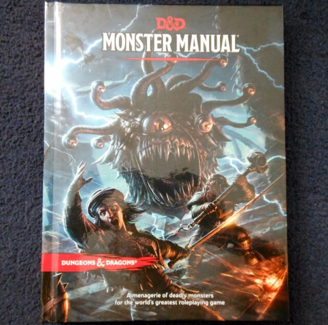 Monster Manual 5th Edition Advanced Dungeons & Dragons Core Rules Bestiary D&D