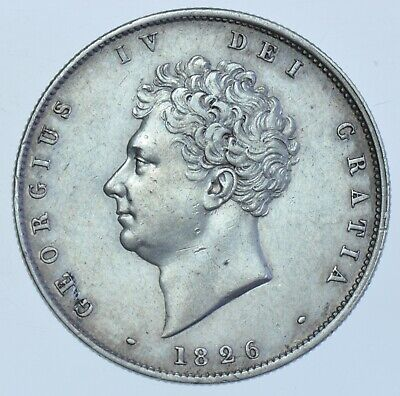 1826 HALFCROWN BRITISH SILVER COIN FROM GEORGE IV EF