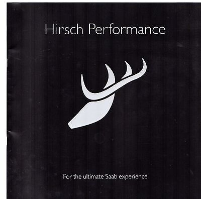 Saab Hirsch Performance Accessories 2008 UK Market Sales Brochure 9-3 & 9-5, used for sale  United Kingdom