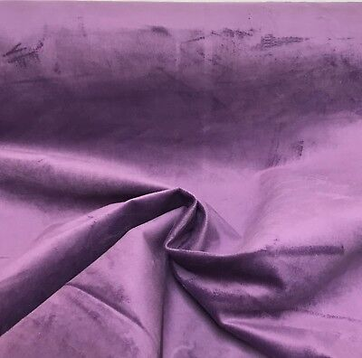 LUXURIOUS PURPLE VELVET UPHOLSTERY FABRIC 10 METRES!!