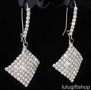 Silver Tone Chandelier Earrings
