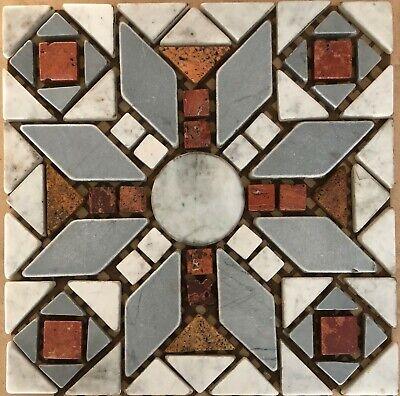12 X 12 Mosaik (Naturstein Rosone, Antik Marmor, Fliese, Mosaik, 33x33cm, SR12 Expressversand)
