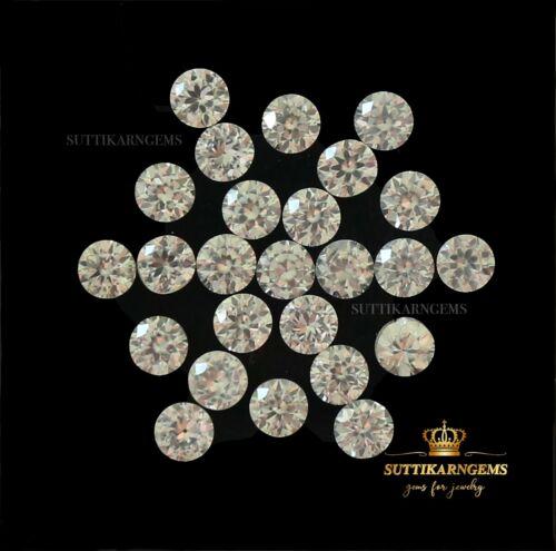 3 MM Natural White Zircon Round Diamond Cut Loose Gemstone Lot