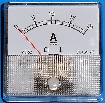 Dc Analog Ammeter 0-20 Amps Dc Ms52 Type