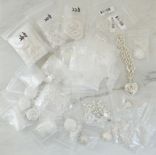 HUGE lot of 925 stamped Silver Jewelry & Pendants NEW 75 pieces