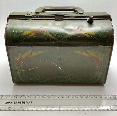 Vintage Antique HUNTLEY & PALMER Ladies Handbag Tin
