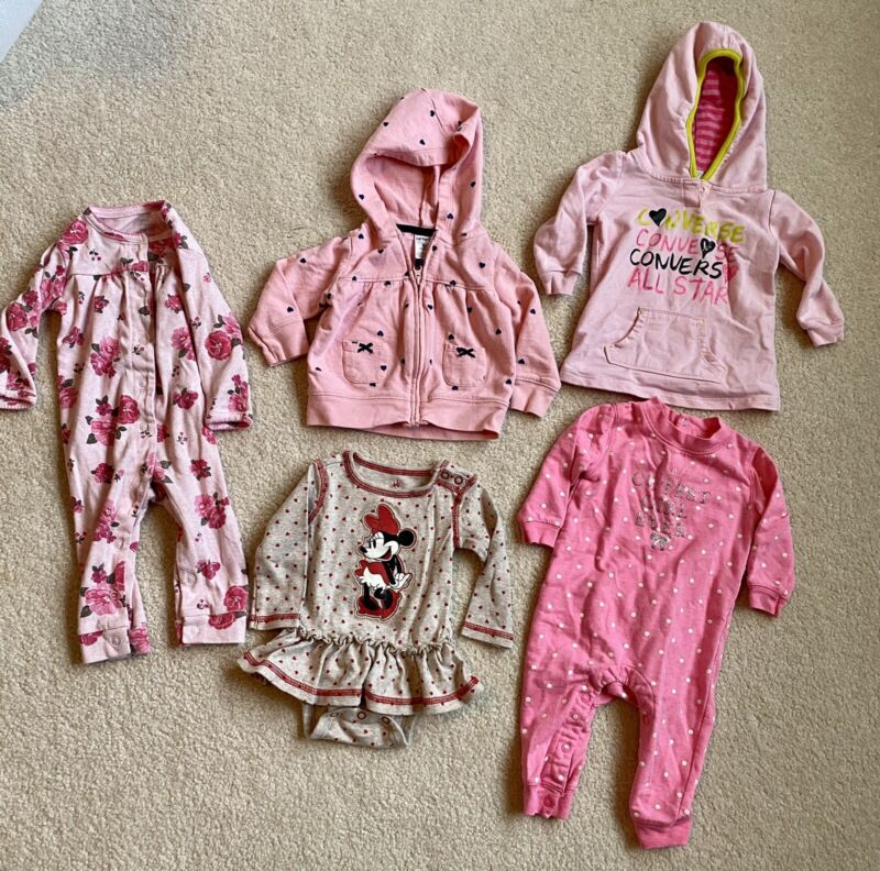 !huge Lot! Baby Girl 3-6 Months Disney Minnie Mouse Carter's Converse  6 Items!!