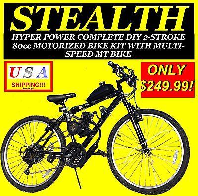 NEW DIY 2-STROKE 66cc/80cc MOTORIZED BICYCLE KIT WITH MOUNTAIN -