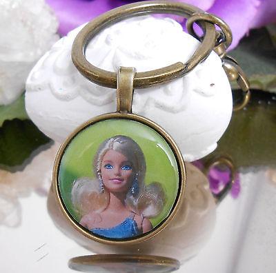 Schlüsselanhänger Taschenbaumler Puppe Barbie Style Ring oval + Karabiner