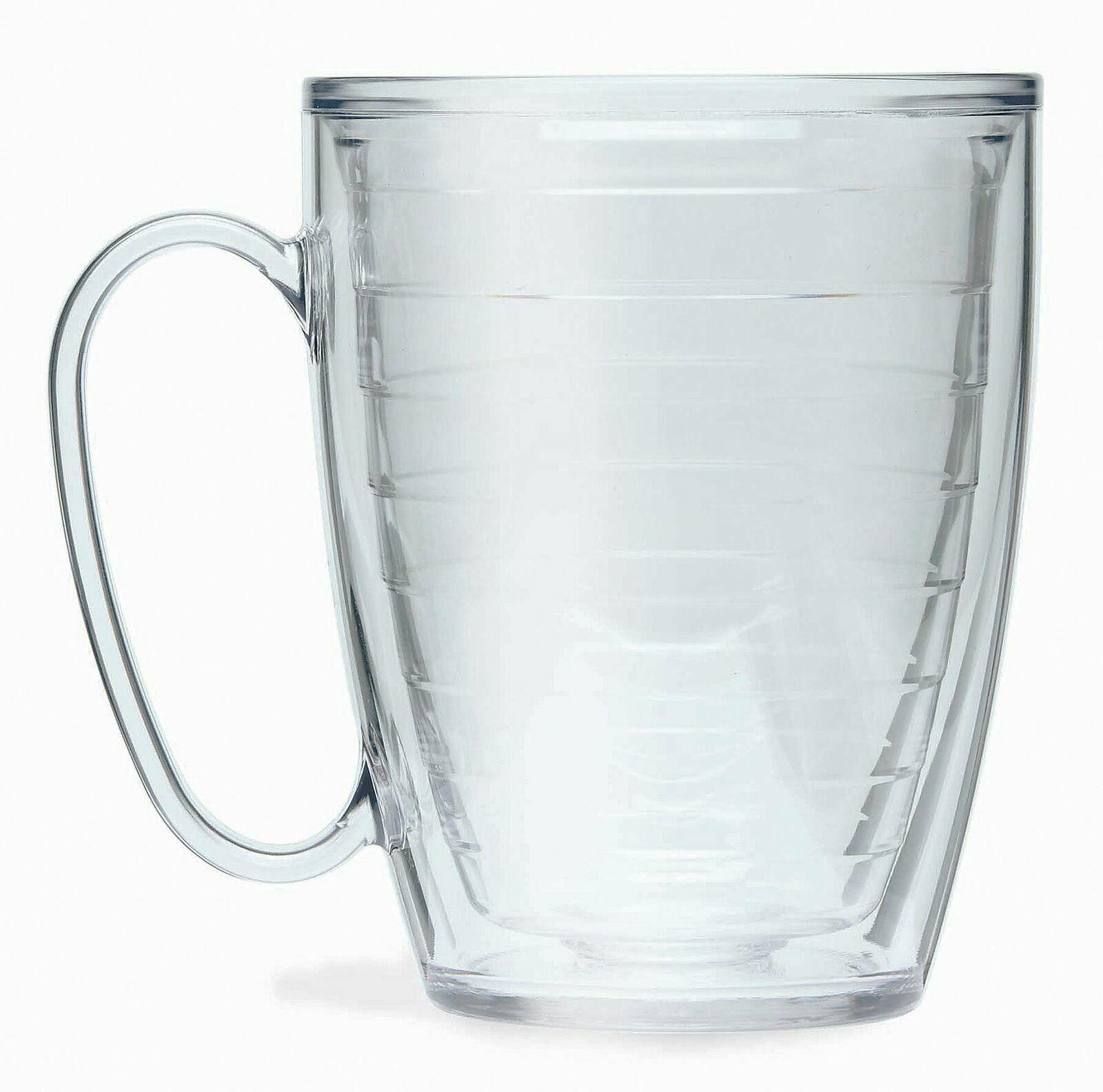 TERVIS Tumbler Clear 16 oz. MUG Coffee, Tea, Beer HOT or COL