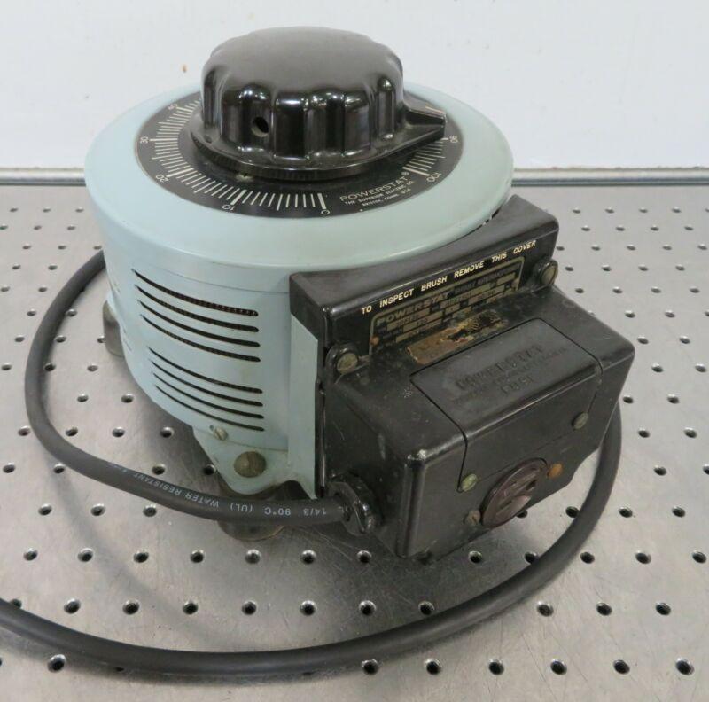 C176654 Powerstat 3PF13 Variable Autotransformer (120Vin, 0-118VAC, 20A, 2.8KVA)