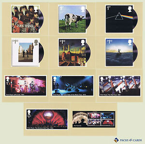 2016 Pink Floyd PHQ 417 - Mint Cards - Set of 11 Royal Mail Postcards