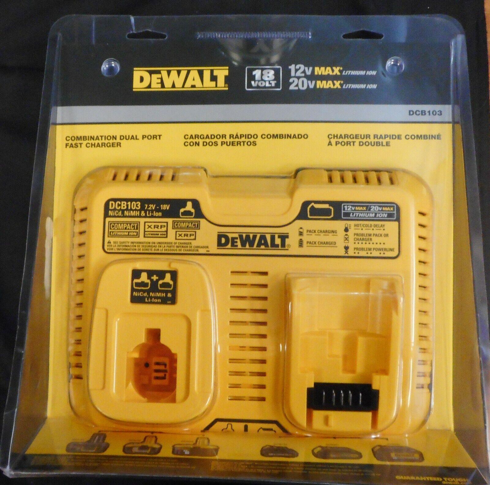 DEWALT-DCB103 Combination Li-Ion/NiCd Dual Port Fast Charger