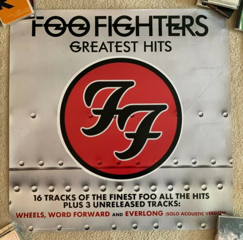 Foo Fighters official 3x3  ft Promotional Poster/print Greatest Hits Best Of