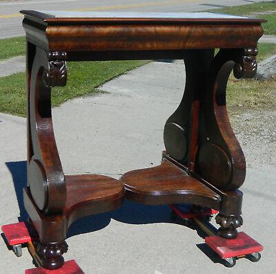 Mahogany Empire Pier Table~~ Marble Top~~circa 1840 ()