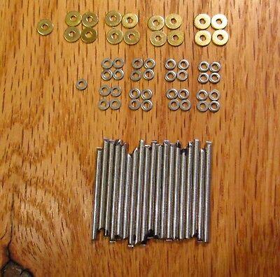 Nickel Pins (Straight Razor Repair Kit 8 Sets of NICKEL/SILVER Pins Washers & Pivot)