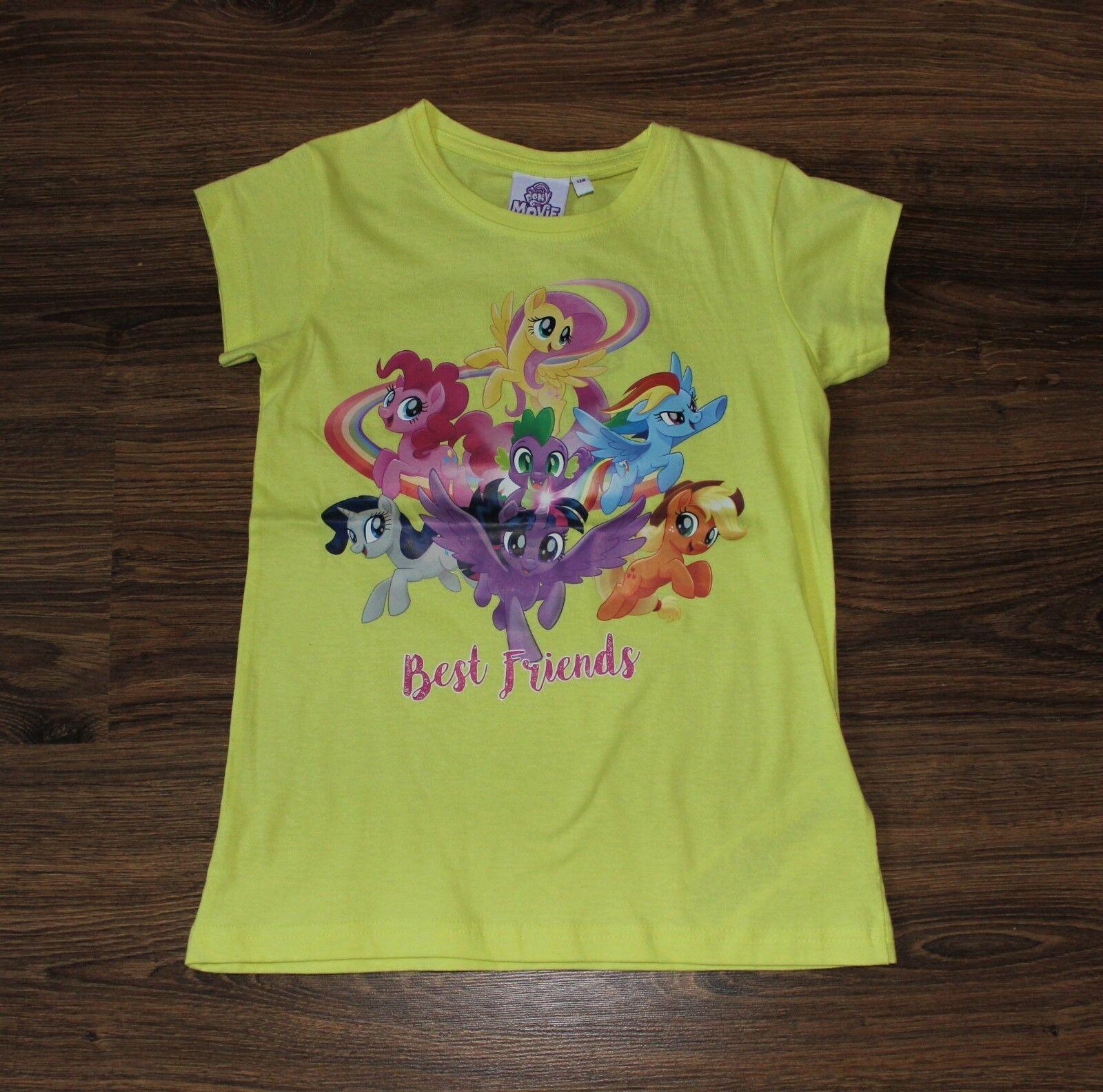 my little Pony MOVIE  T-Shirt gelb mit Motiv Mädchen BEST FRIENDS  116 128  NEU