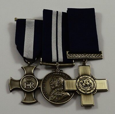 3 Replica WW1 WW2 Service/War Medals Distinguished Service Cross. George V
