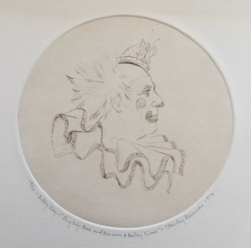 RINGLING BROS. BARNUM & BAILEY CIRCUS CLOWNS - 1976 ARTWORK by STANLEY ROSEMAN