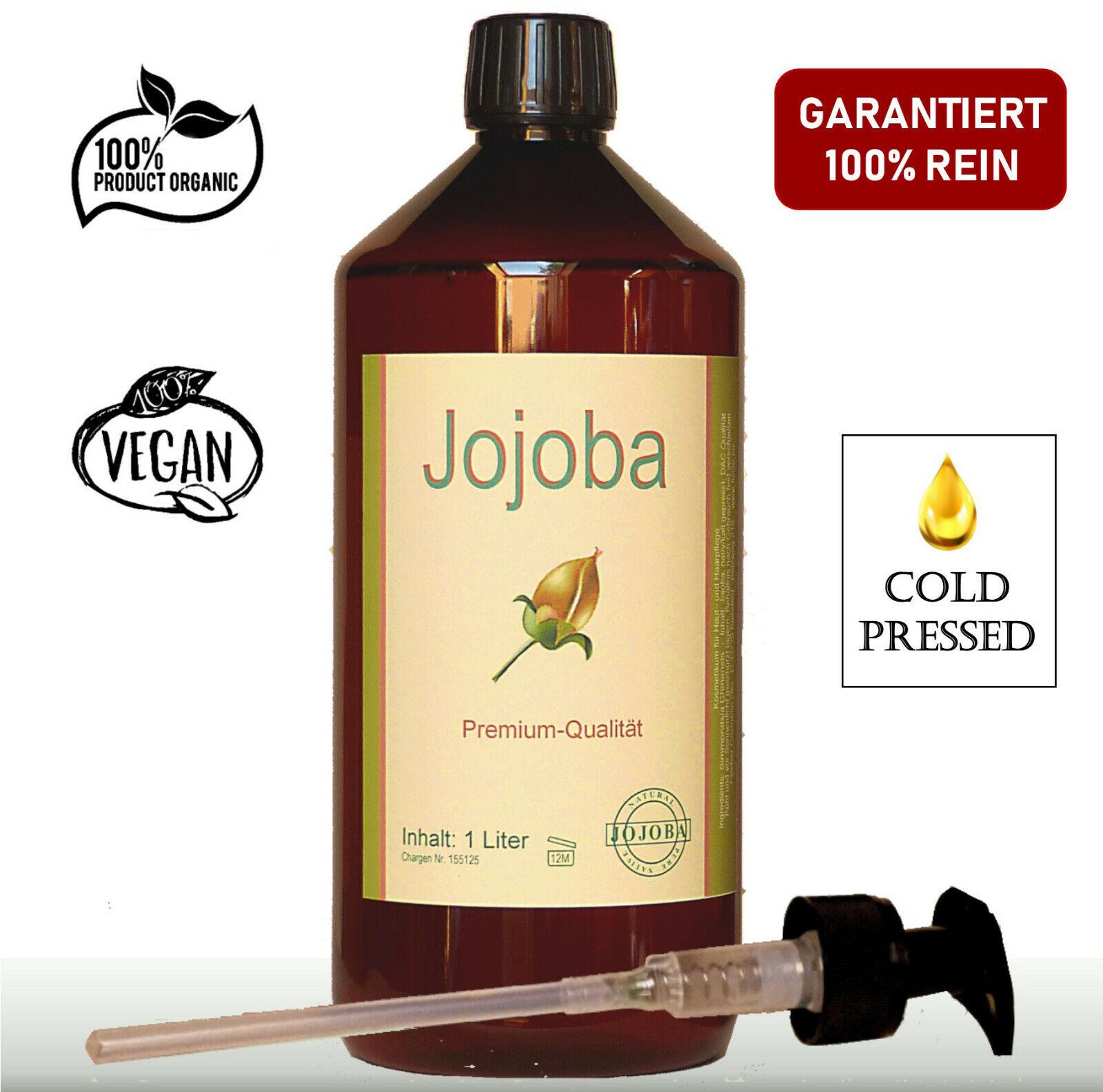 Jojobaöl nativ kaltgepresst 1 Liter (1000ml) goldgelbe DAC-Qualität Dosierpumpe