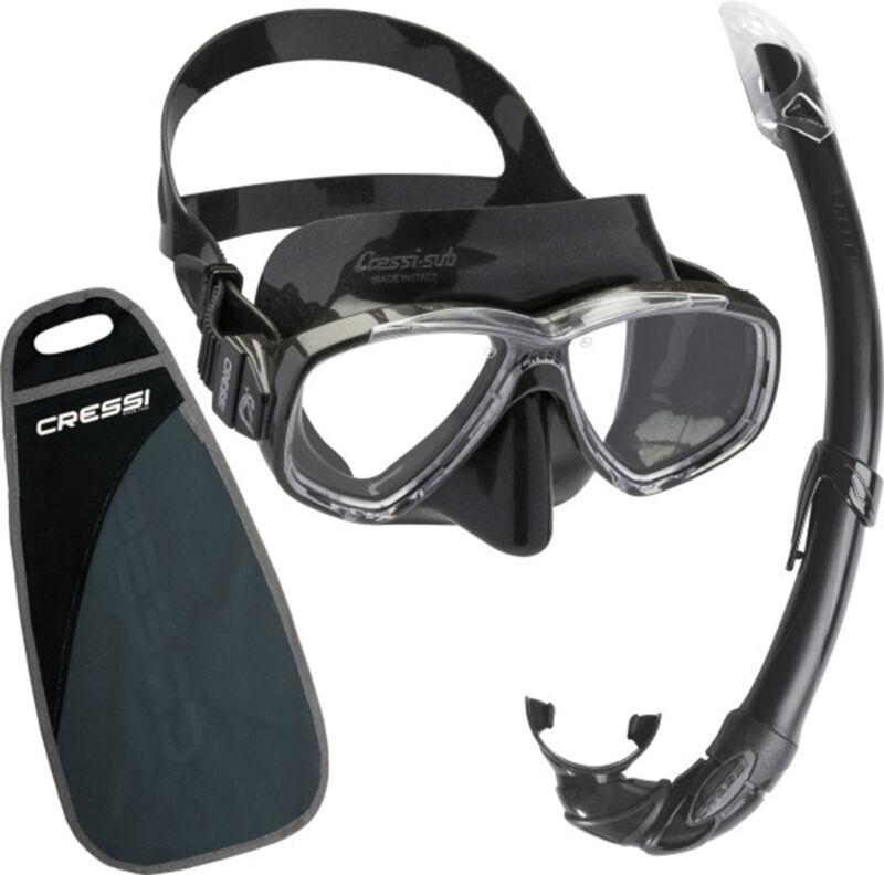Cressi Perla & Mexico Mask Snorkel Combo Black/Black