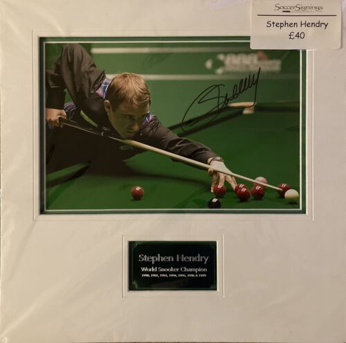 Signed and Mounted Stephen Hendry Photograph