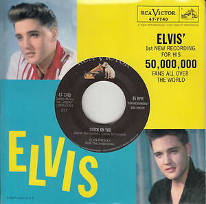 ELVIS-PRESLEY-Stuck-On-You-Fame-And-Fortune-PICTURE-SLEEVE-RED-VINYL-7-45-NEW