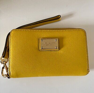 Michael Kors Zip Purse Leather Yellow