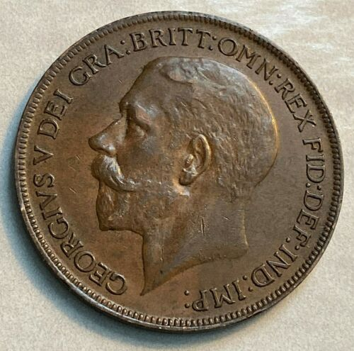 1922 Great Britain Penny Nice AU/Unc. KM 810 CHN