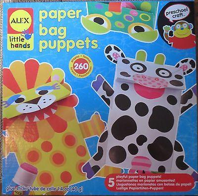 Alex Little Hands   Paper Bag Puppets   Preschool Crafts