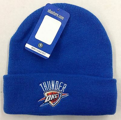 best sneakers 55c1a 9708a NBA Oklahoma City Thunder Adidas Cuffed Knit Hat Cap Beanie Style  KZ248 NEW