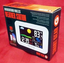Open Box Smart Gear indoor Outdoor Wireless weather station Alarm Clock Color
