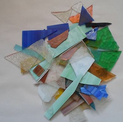 2 1/2 lbs. + lot of scrap stained art glass crafts ,mosaic