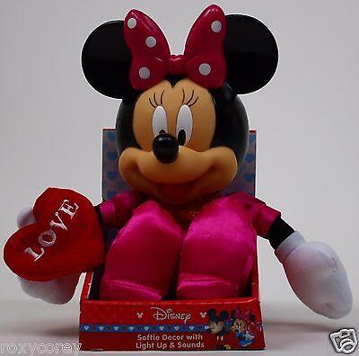 Disney Minnie Mouse Valentine's Love Light Up & Sound Softie Plush Stuffed Toy