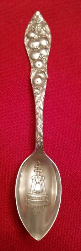 "Mission Inn/Glenwood Inn Riverside CA 5.75"" Sterling Spoon - Nice Shape!"