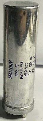 Mallory Electrolytic Capacitor Mfd 750 500uf Vdc 125125 Fp207.5 Nos