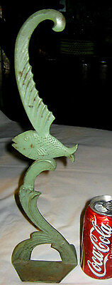 X RARE! ANTIQUE ART DECO SPENCER USA SEA FISH TANK CAST IRON ART STATUE DOORSTOP