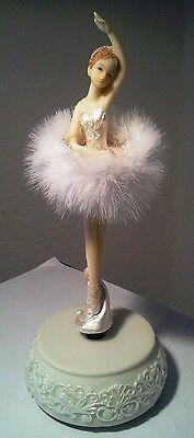 Spieluhr drehende Ballerina mit Rüschenkleid TüTü Ballet Melodie Blaue Donau NEU