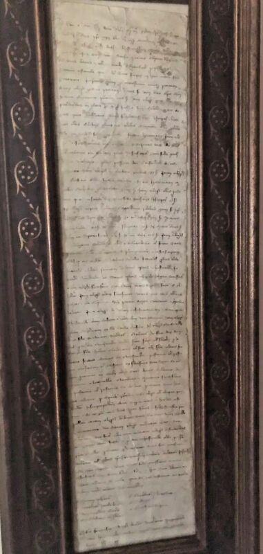 Scroll Renaissance Medeival Manuscript Codex Hand Written Latin Parchment Paper