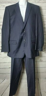 Warren Sewell Mens 2 Pc Suit Navy 42 36 L American Cut Suit Blazer Pants