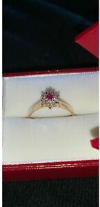 Size 6 ruby & diamond ring