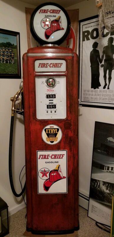 "Tokheim 39 Tall ""Fire Chief"" Antique vintage Gas Pump"