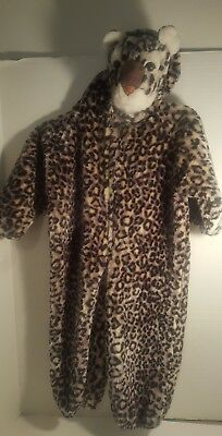 LEOPARD CHILD HALLOWEEN COSTUME KIDS SAFARI SIZE SMALL 2-4 Years full body warm](Warm Bodies Halloween Costumes)