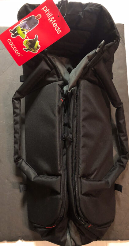 PHIL & TED  BLACK AND GRAY BASSINET BABY COCOON TRAVELER NEW WITH TAGS