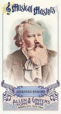 (2012 Topps Allen & Ginter Baseball Mini Musical Masters #MM6 Johannes Brahms)