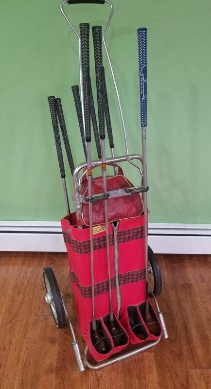 Vintage Women ForeWay CHANCELLOR Combination Cart and Ball Bag USA Bristol Clubs