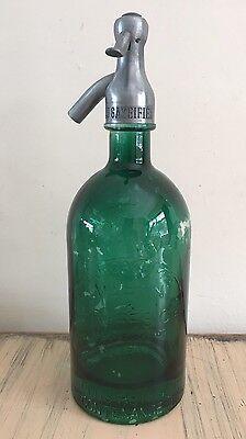 Vintage French Green Soda Siphon Martin & Freres Cie 1931