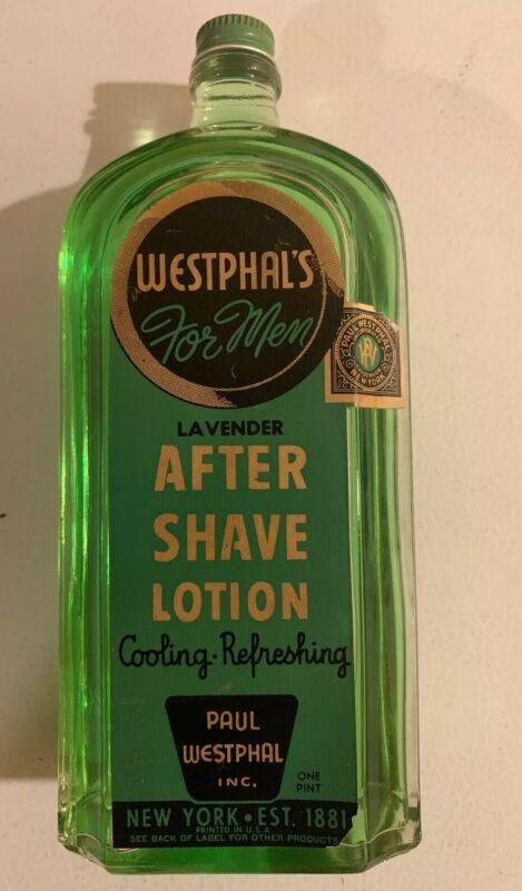Vintage Westphal's After Shave Men Lotion Full Sealed Unopened Bottle Shaving