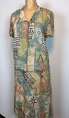 Alfred Dunner Womens Outfit Skirt & Top Modest Set Size 8 Lined Multicolor EUC Womens Outfit